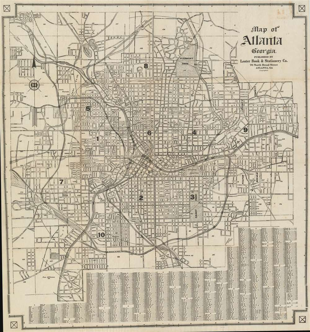 Map of Atlanta Georgia.: Geographicus Rare Antique Maps