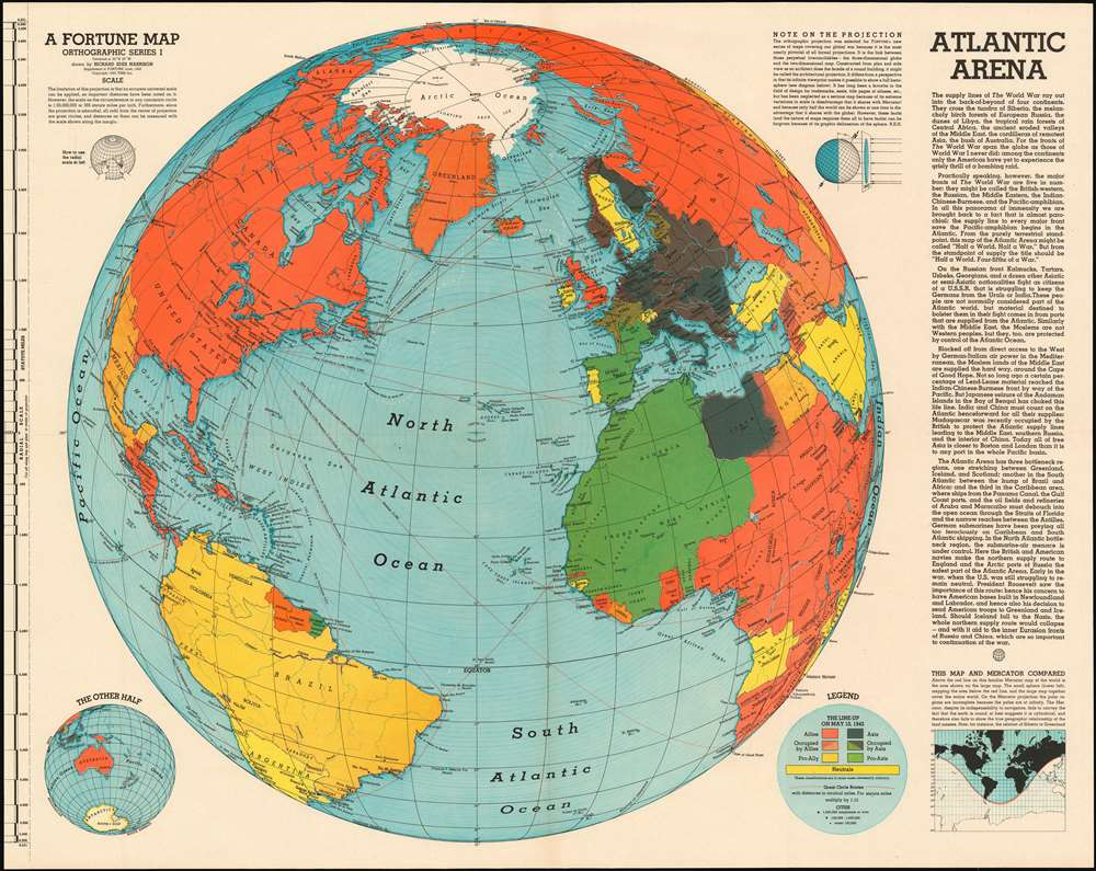 Atlantic Arena. A Fortune Map. Orthographic Series I.