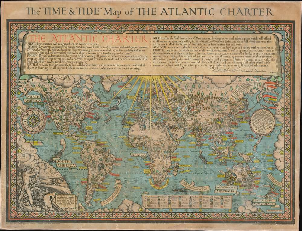 The 'Time and Tide' Map of The Atlantic Charter.