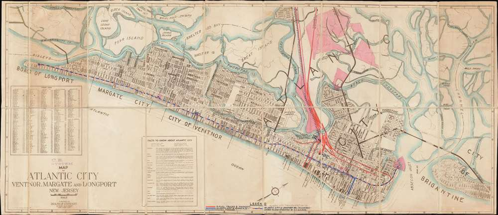 Map of Atlantic City Ventnor, Margate and Longport New Jersey. - Main View