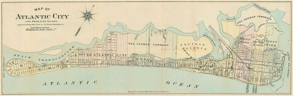 Map of Atlantic City and Absecon Island. - Main View