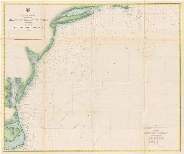 Atlantic Coast of the United States (in four sheets) Sheet No. II Nantucket to Cape Hatteras.