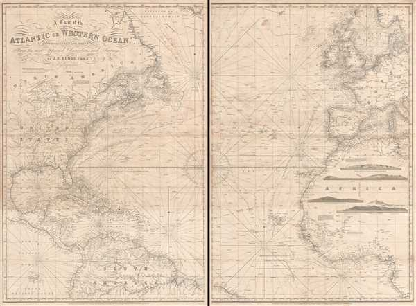 A Chart of the Atlantic or Western Ocean.