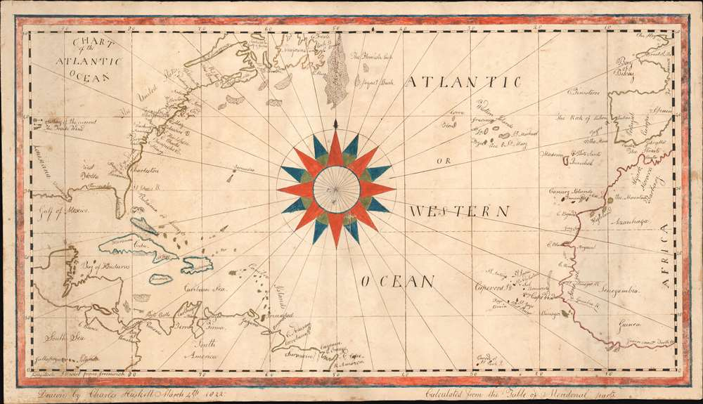 Chart of the Atlantic Ocean. - Main View