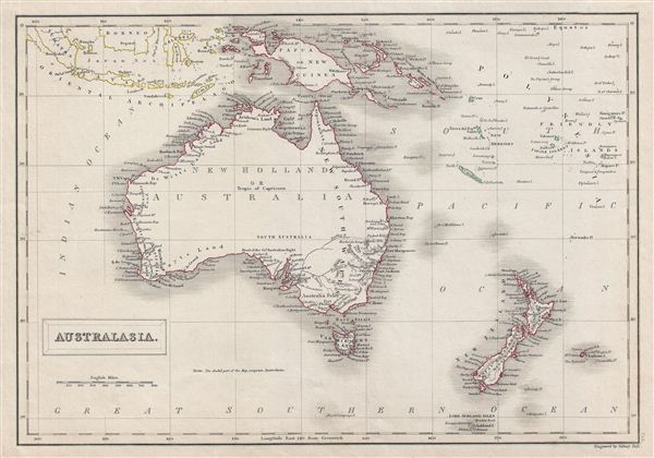 Australasia.: Geographicus Rare Antique Maps