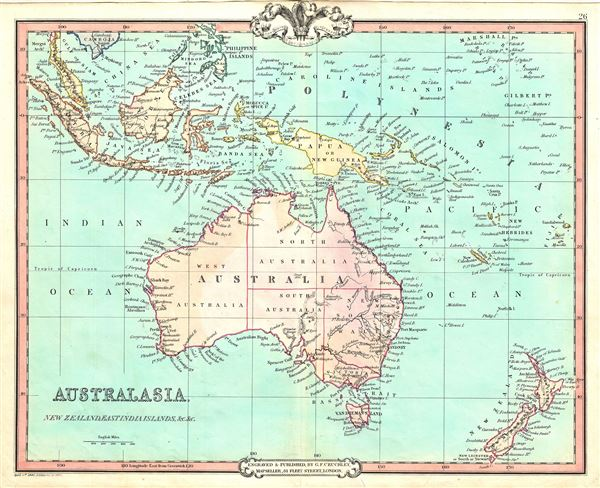Australasia, New Zealand, East India Islands, etc. etc.