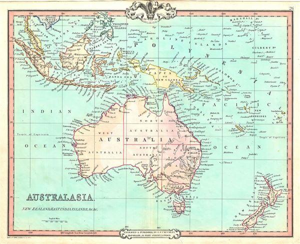 Australasia New Zealand East India Islands Etc Etc - Antique maps for sale australia