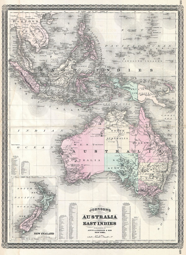Johnson's Australia and East Indies.