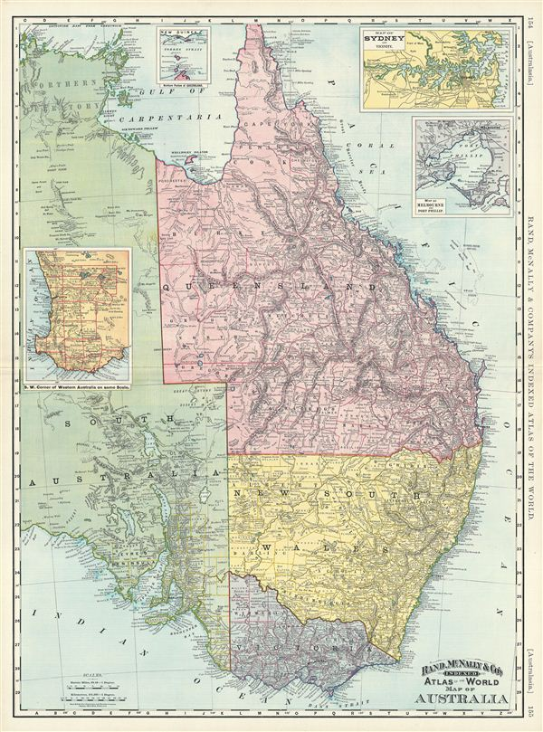 Map of Australia. - Main View