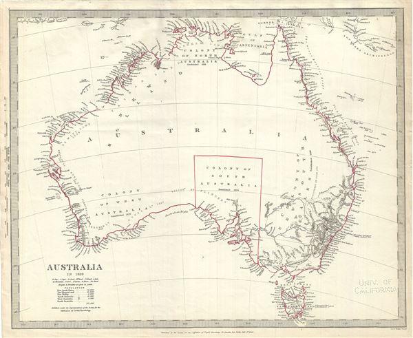 Map Of Australia 1830.Australia In 1839 Geographicus Rare Antique Maps
