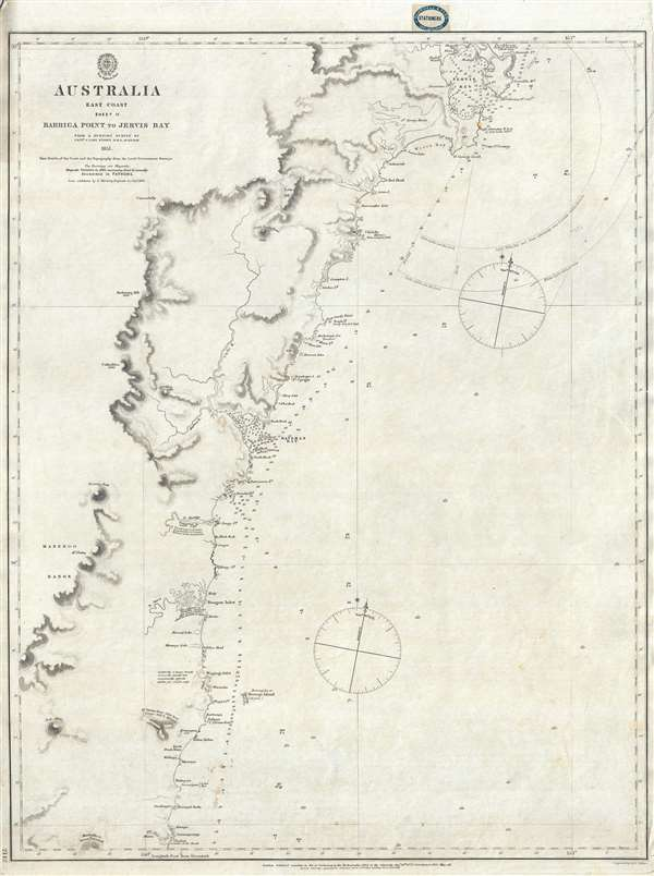 Australia Map Jervis Bay.Australia East Coast Sheet Ii Barriga Point To Jervis Bay