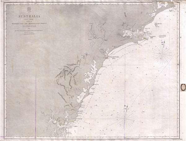 Map Of North East Australia.Australia East Coast Sheet Iv Broken Bay To Sugarloaf Point