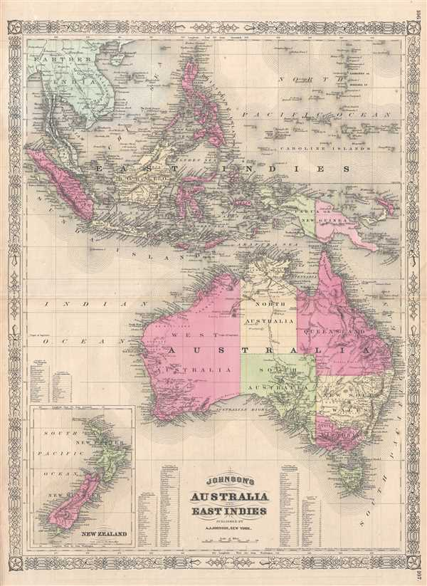 Johnson's Australia and East Indies. - Main View