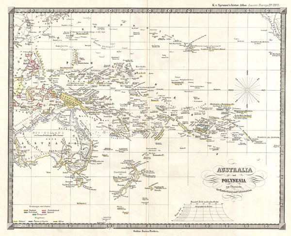 Australia und Polynesia zur Ubersicht der Entdeckung und Colonisation - Main View