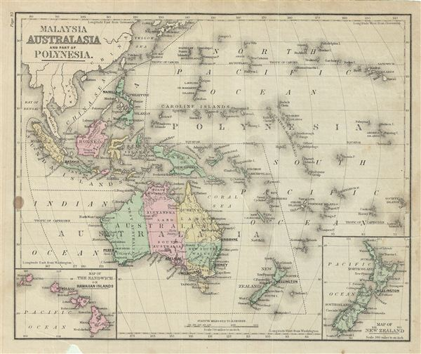 Malaysia Australia and Part of Polynesia. - Main View