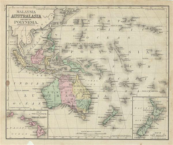 Malaysia Australia and Part of Polynesia. - Main View