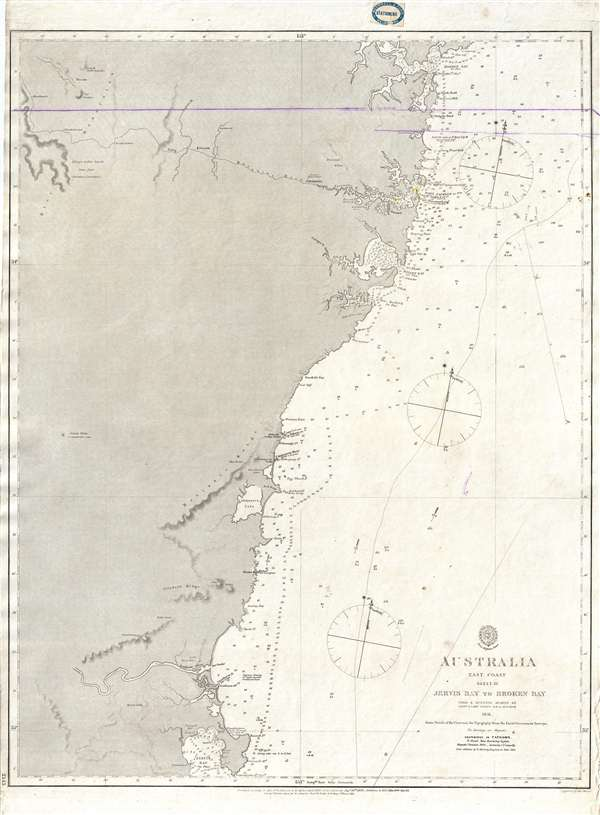 Map Eastern Australia.Details About 1865 John Lort Stokes Admiralty Chart Or Map Of Eastern Australia Sydney