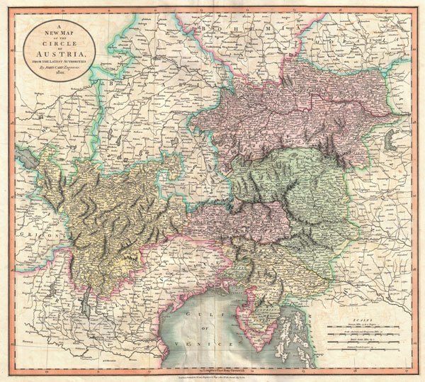 1801 Cary Map of Austria