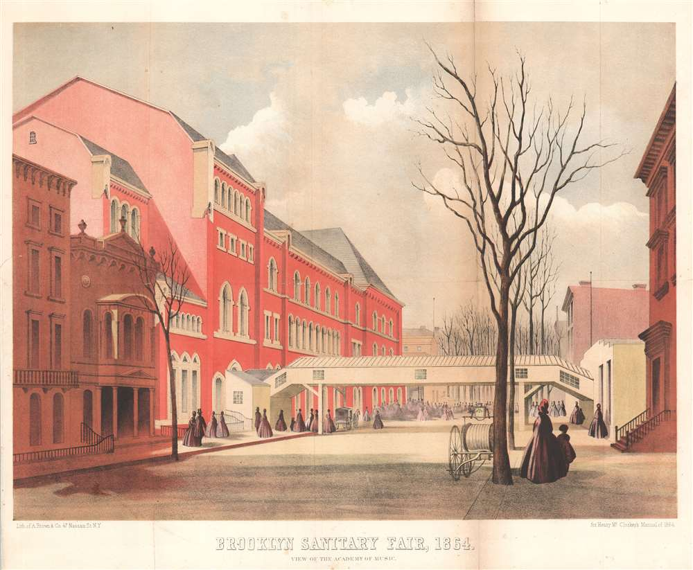 Brooklyn Sanitary Fair, 1864. View of the Academy of Music. - Main View