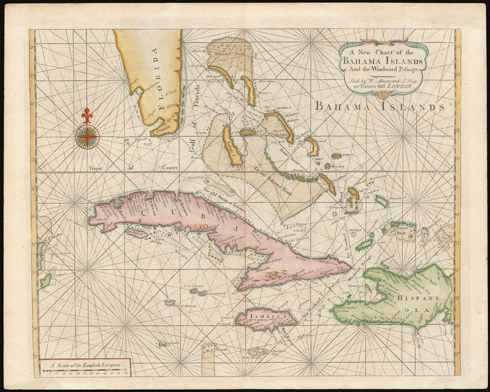A New Chart of the Bahama Islands and the Windward Passage. - Main View