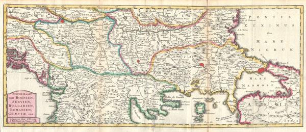 Nieuwe Kaart van Bosnien, Servien, Bulgarien, Romanien; Graeciae enz..