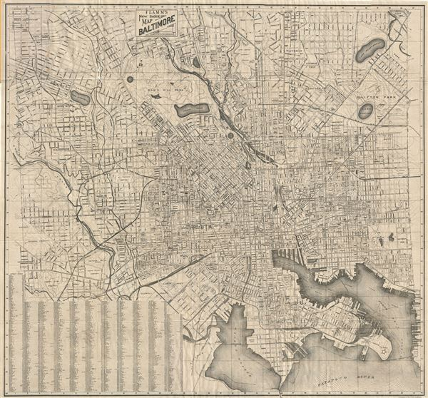 Flamm's New Index Map Baltimore.