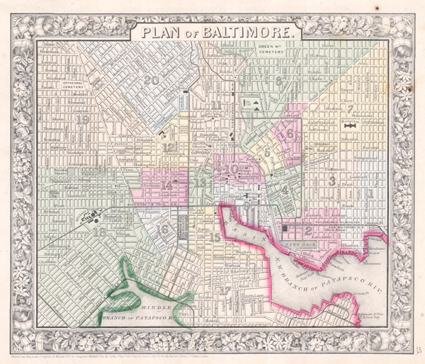 Plan of Baltimore. - Main View