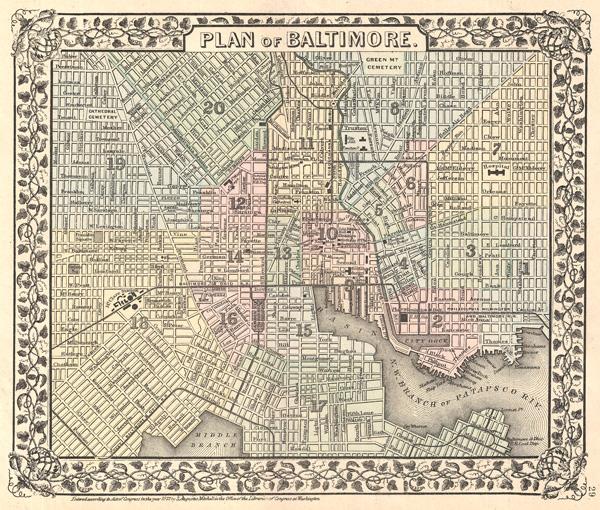 Plan of Baltimore. - Main View