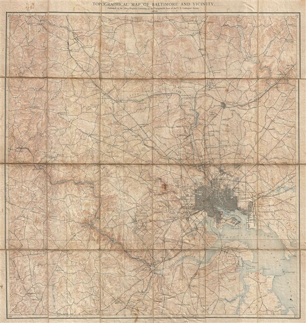 Topographical Map of Baltimore and Vicinity. - Main View