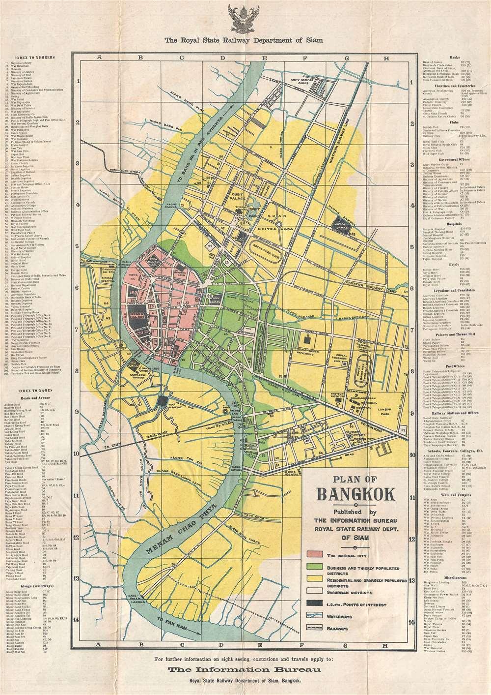 Plan of Bangkok.
