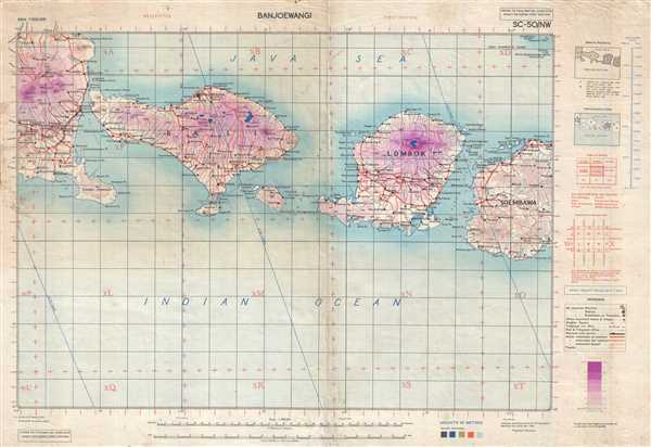 Details About 1945 British Army Map Of Bali Lombok And Environs Indonesia