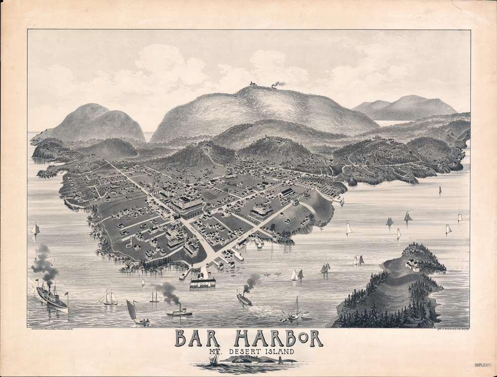 Bar Harbor Mt. Desert Island. - Main View