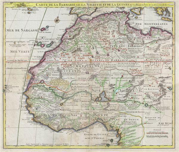 Carte de la Barbarie le la Nigrite et de la Guinee.