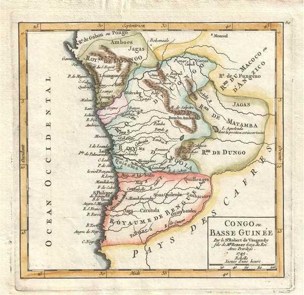 Congo ou Basse Guinée. Par le Sr. Robert de Vaugondy fils de Mr. Robert Geog. du Roi.