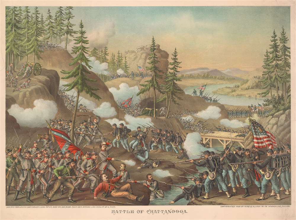 Battle of Chattanooga. - Main View