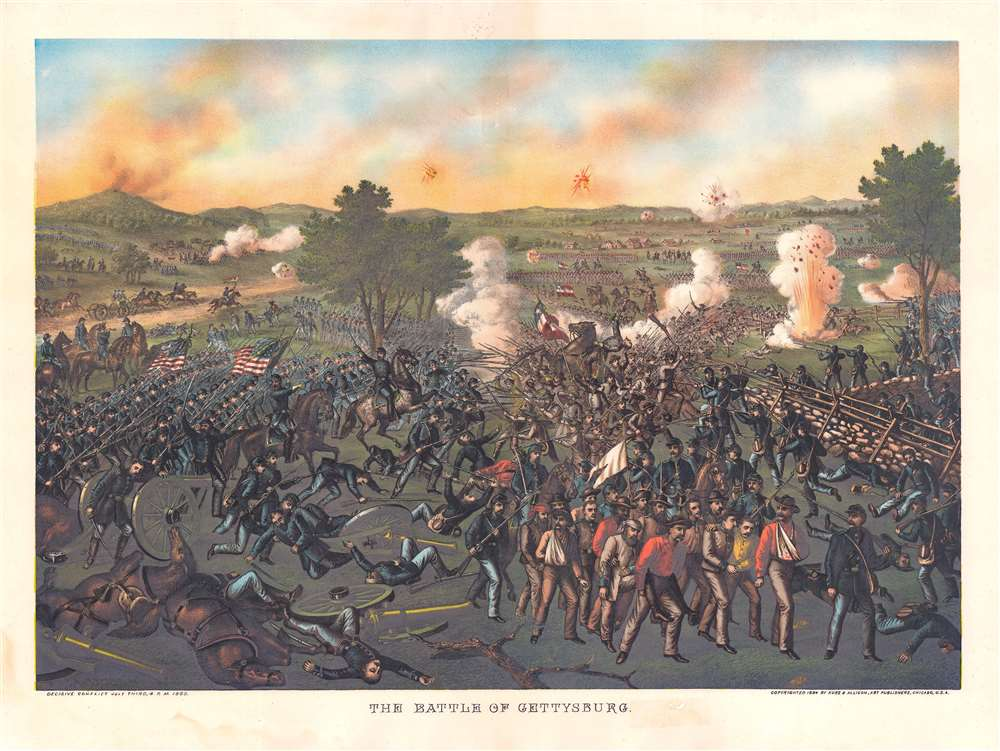 The Battle of Gettysburg. - Main View