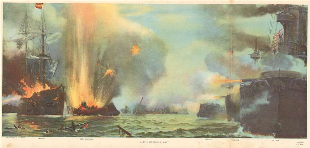 1898 Tyler View of the Battle of Manila Bay, Philippines
