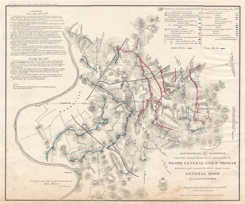 Where To Buy A Map Of The United States.Battlefields In Front Of Nashville Where The United States Forces