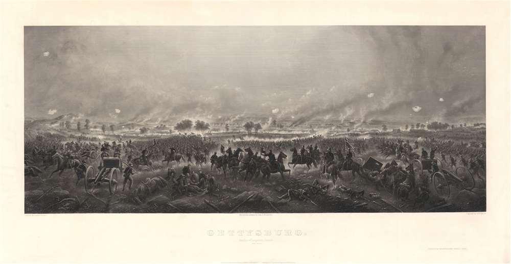 Gettysburg. Repulse of Longstreet's Assault. - Main View