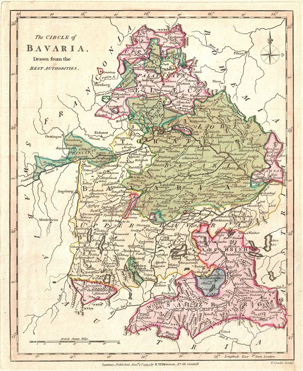 The Circle of Bavaria, Drawn from the Best Authorities.