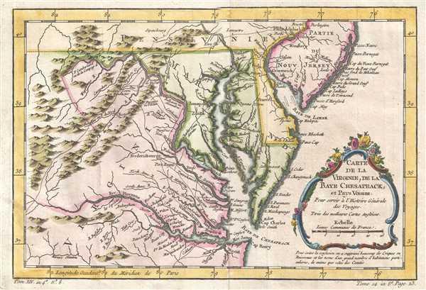 Carte de la Baye de Chesapeack et Pays Voisins. - Main View