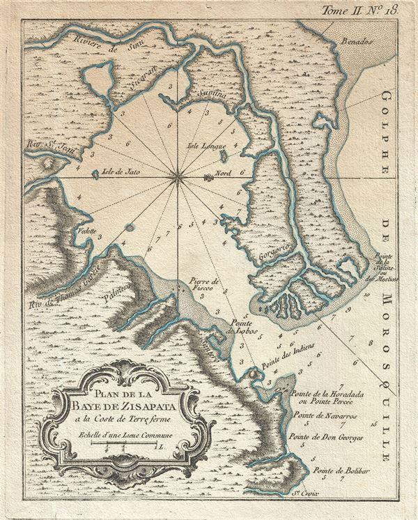 Plan de la Baye de Zisapata a la Coste de Terre ferme.