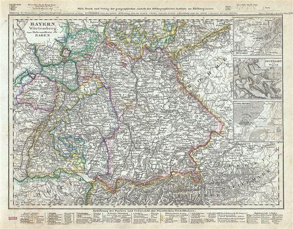 Bayern, Wurtemberg, beyde Hohenzollern und Baden.
