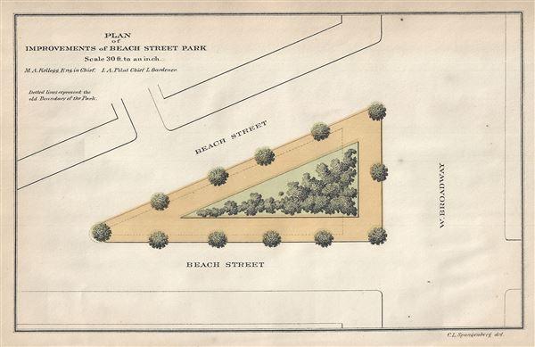 Plan of Improvements of Beach Street Park.