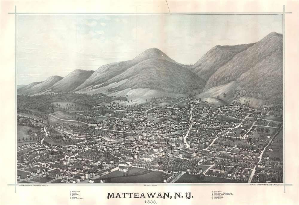 Matteawan, N.Y. 1886. - Main View
