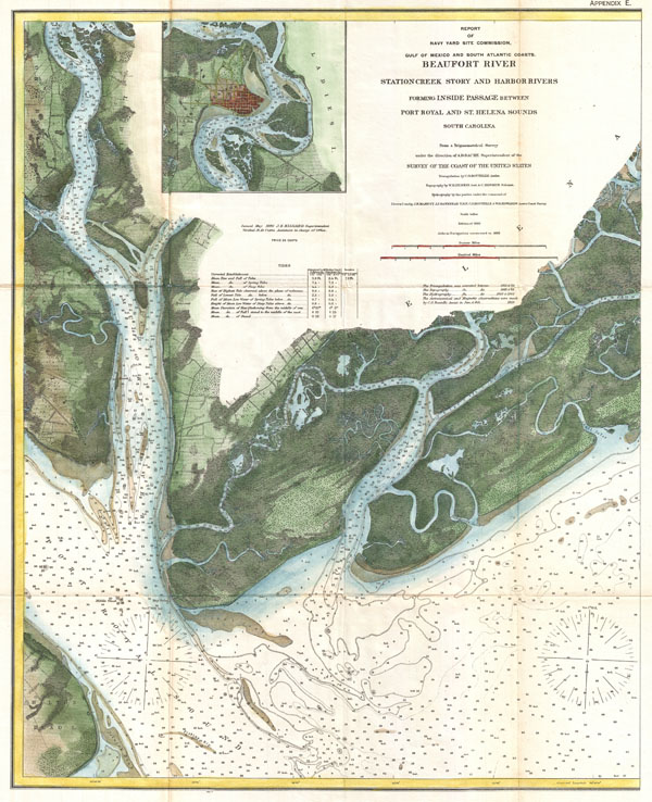 Beaufort River Station Creek Story and Harbor Rivers Forming Inside Passage Between Port Royal and St. Helena Sounds South Carolina