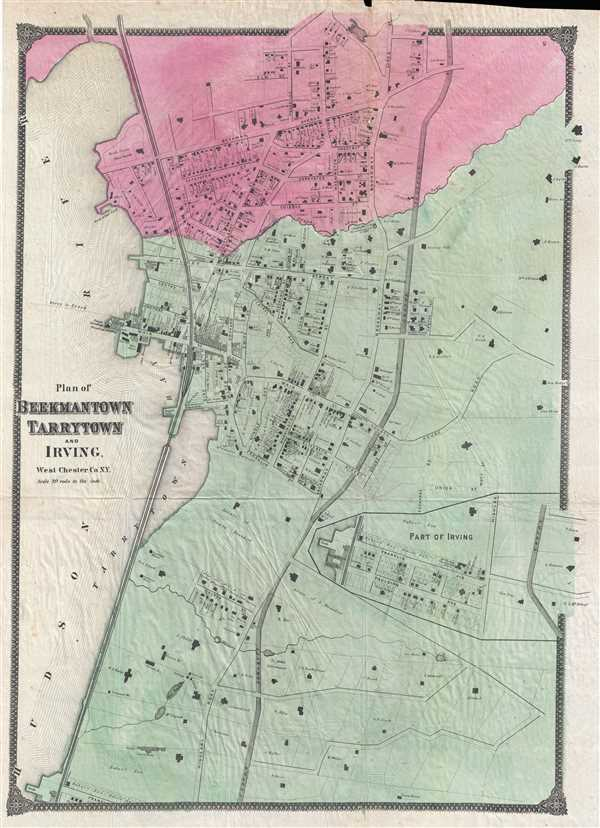Plan of Beekmantown Tarrytown and Irving West Chester Co. N.Y.