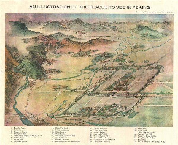 An Illustration of the Places to See in Peking. - Main View