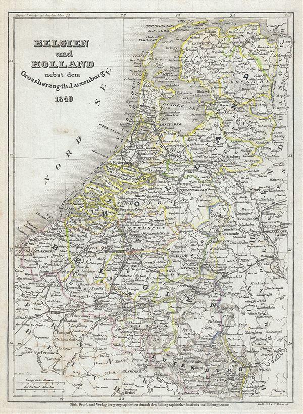 Belgien und Holland nebst dem Grossherzogth Luxemburg.