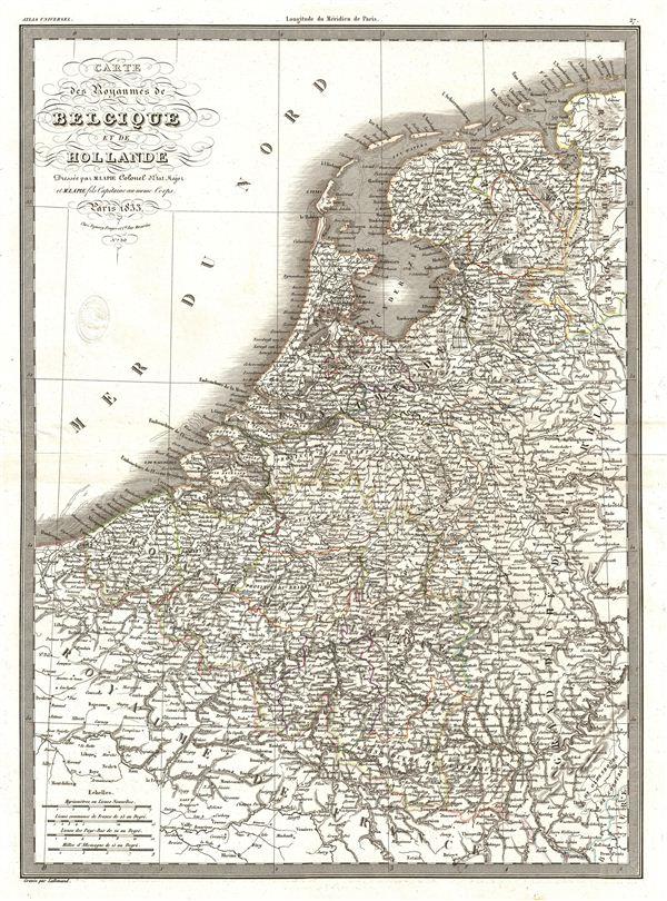 Carte des Royaumes de Belgique et de Hollande.